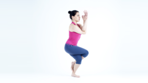 postura de yoga animales