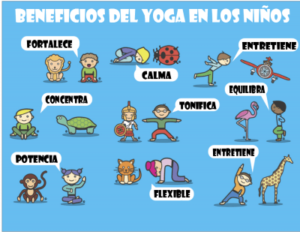 posturas de yoga para niños animales