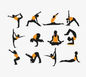 posturas de yoga de animales